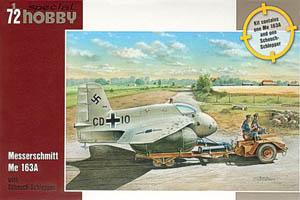 Special Hobby Messerschmitt Me 163A with Scheuch-Schlepper
