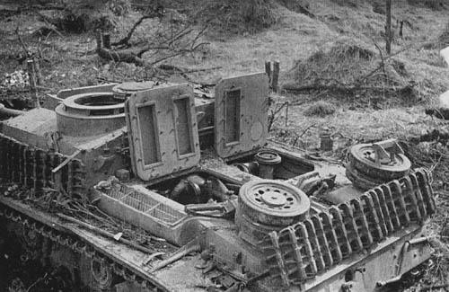 Sturmgeschutz III (StuG III) near Monte Cassino, Italy
