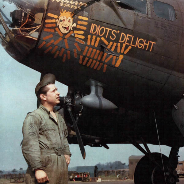 B-17 Nose Art -- Idiots Delight