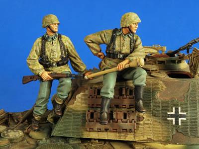Verlinden German Tank Riders: 1/35th Scale Resin Figure Kit