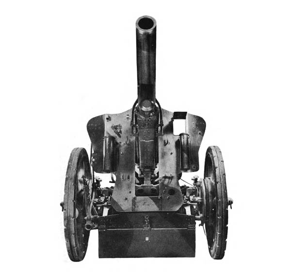 German 105-mm Howitzer and Carriage, Front View