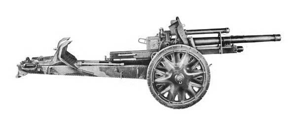 German 105-mm Howitzer and Carriage, Traveling Position