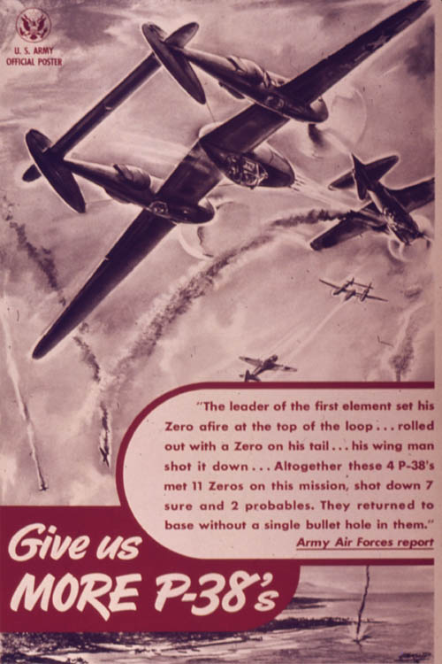 Give Us More P-38s Poster