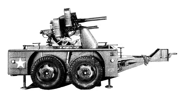 M51 Antiaircraft Multiple Quad .50 cal. MG Trailer