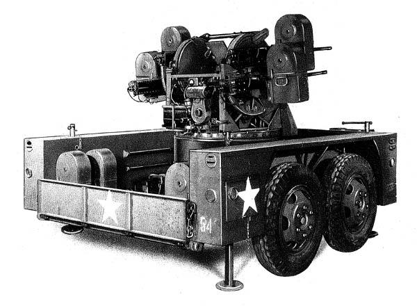 M51 Quad .50 cal. Machine Gun Mount and Trailer