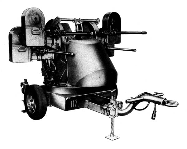 M55 Multiple .50 cal. Machine Gun Trailer