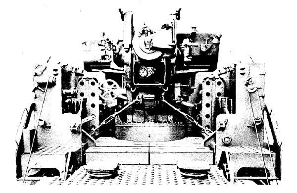 155-mm Gun on Gun Mount M13 on Gun Motor Carriage M40 -- Rear View