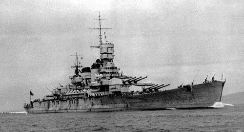 Italian Navy Battleship Roma WW2