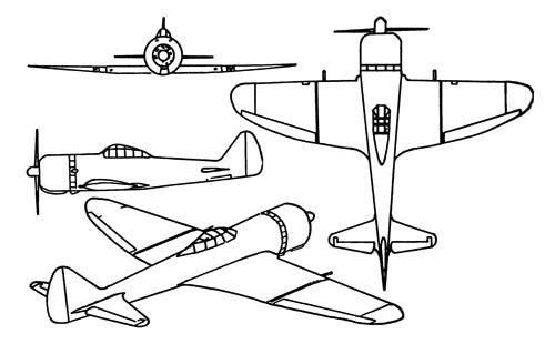 Nakajima Ki-44 Shoki Tojo Fighter