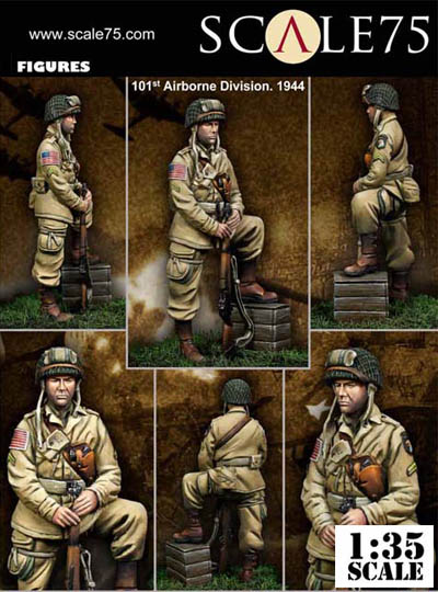 101st Airborne Division WWII Figure 1944 Scale75