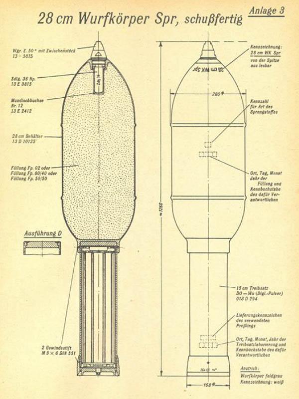28 cm Wurfkörper Spreng Nebelwerfer 41 Rocket