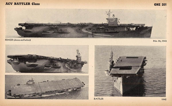 ACV HMS Battler and HMS Fencer Royal Navy Escort Carriers WW2
