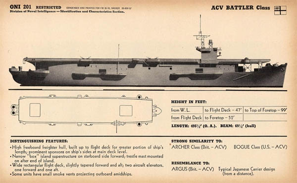 ACV Battler Class Escort Carrier Ship of Royal Navy WW2
