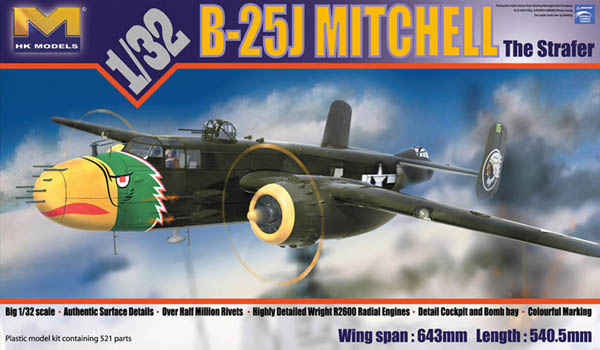B-25J Mitchell, The Strafer, HK Models 1/32nd Scale