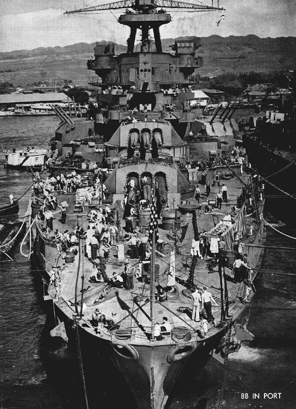 BB in Port: U.S. Navy Battleship WW2