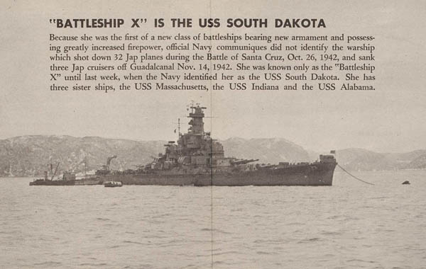 Battleship X is the USS South Dakota