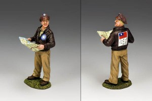 Flying Tigers Ace Pilot with Map, Toy Soldier