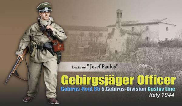 Leutnant Josef Paulus, Gebirgsjäger Officer, Gebirgs-Regt 85, 5. Gebirgs-Division, Gustav Line, Italy 1944