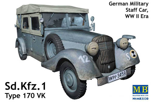 Sd Kfz. 1 Type 170 VK German Military Staff Car MB3530