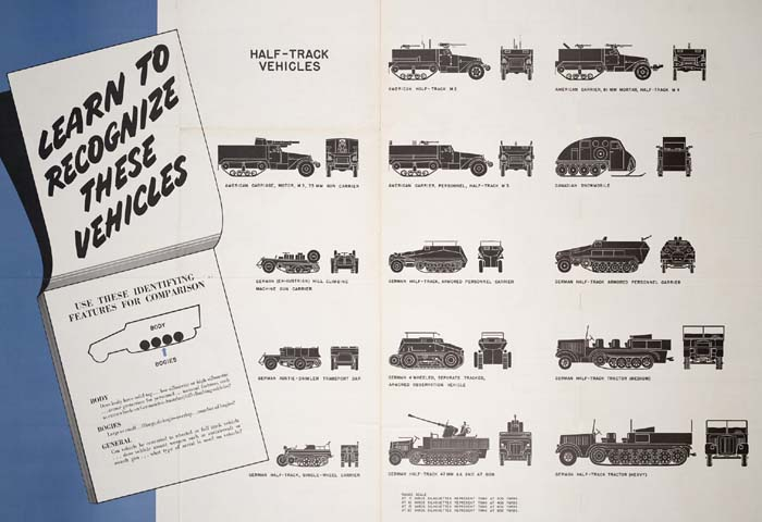 Halftracks Recognition Poster