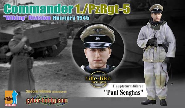 Hauptsturmfuhrer Paul Senghas, Commander, 1./PzRgt-5, Wiking Division, Hungary 1945