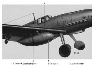 Me 109 Wing Drop Tanks Betriebsstoff-Zusatzanlage