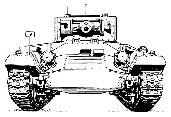 Valentine Tank Front View