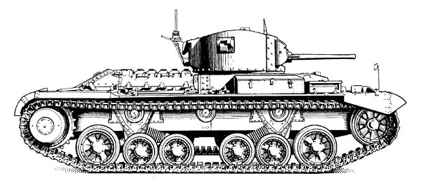 Valentine Tank Side View