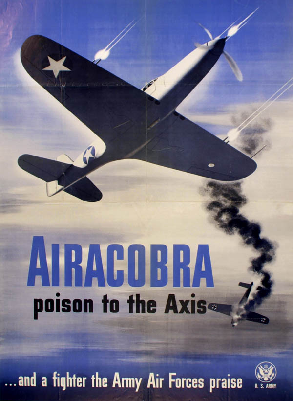 Airacobra Fighter Plane Poster