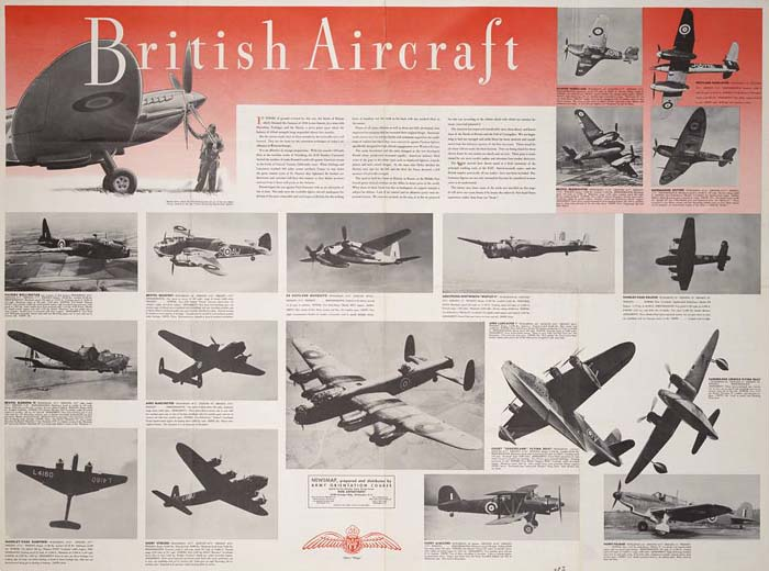 British Aircraft of World War 2 Poster