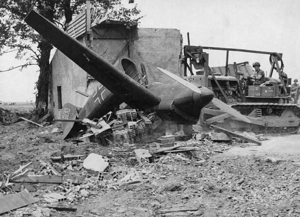 Bulldozer, Dummy German Planes, Cherbourg Peninsula