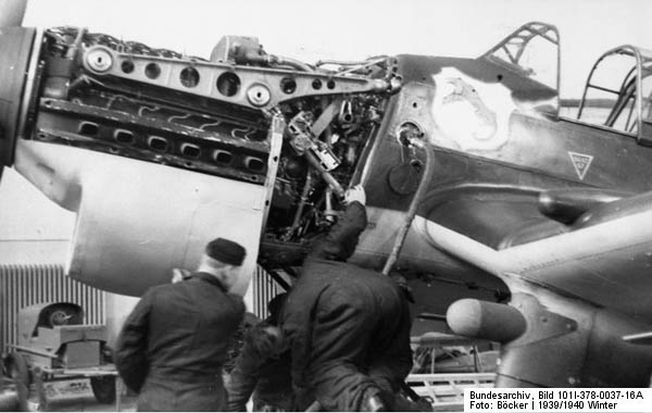 Jumo 211D Engine in Ju 87 Stuka Dive Bomber