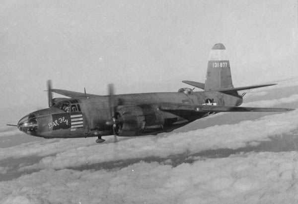 "Martin B-26 Marauder ""Bar Fly"" of U.S. 9th Air Force in WW2"