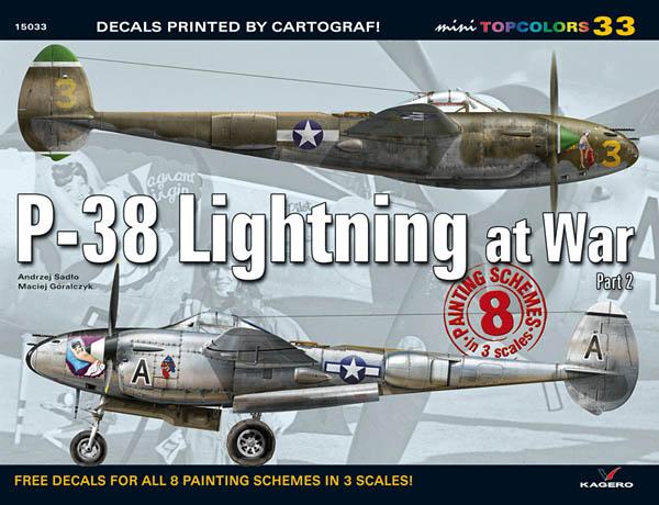 P-38 Lightning at War by Kagero and Cartograf