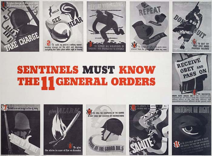 Sentinels Must Know the 11 General Orders