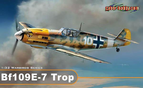 Cyberhobby #3223 Bf 109 E-7 Trop (1/32 Warbirds)