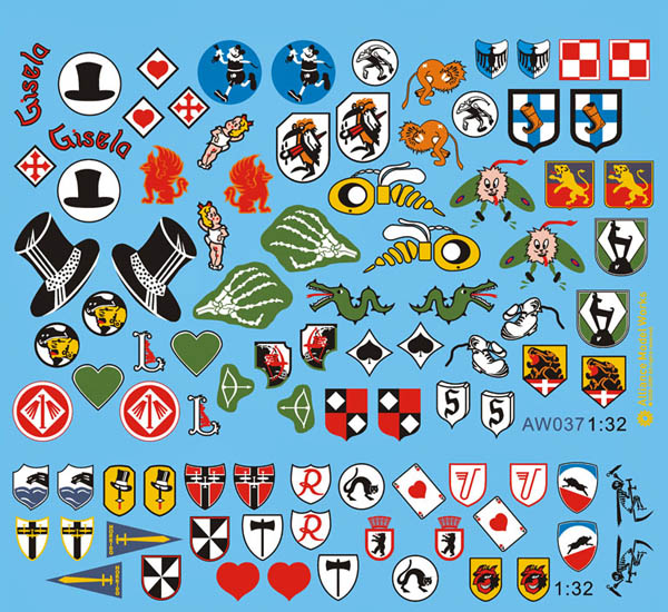 Bf 109 unit emblem decals