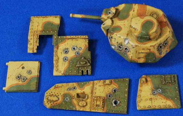 Verlinden 1:35 Scale Point Blank Char B1 Bis (Tamiya) #2761