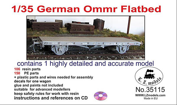 1/35 German Ommr Flatbed by LZ Models