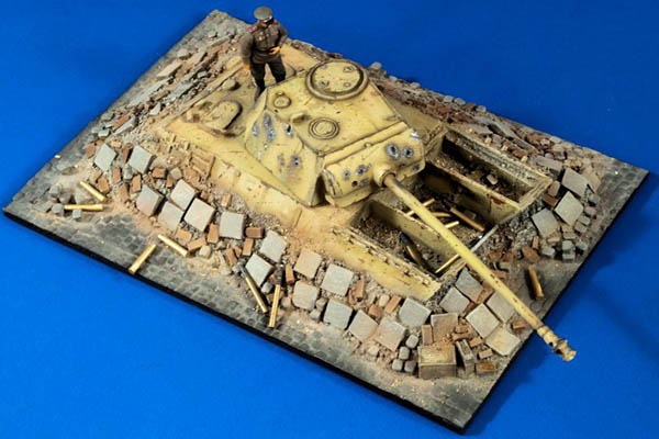Verlinden #2767 Battle for Berlin Panther Dug-In Bunker 1:35 Scale