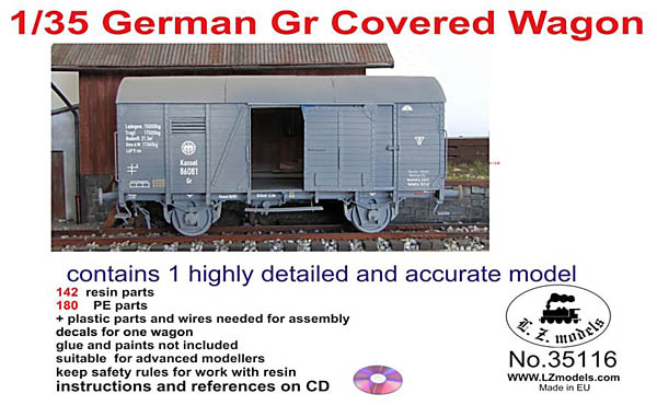 1/35th German Gr Covered Wagon