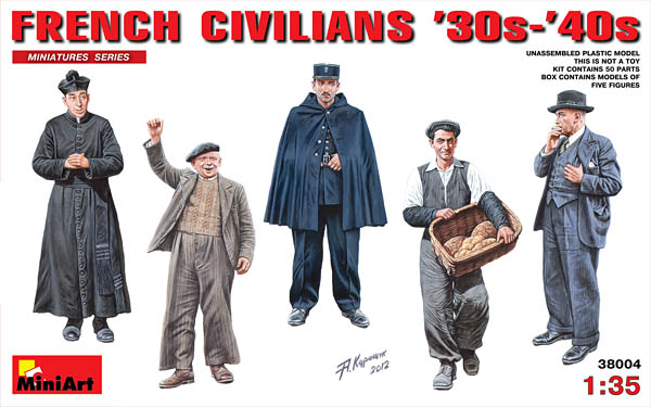 French Civilians 1930s-1940s MiniArt Models