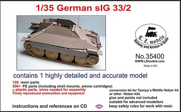 LZ Models German sIG 33/2 Jagdpanzer 38(t)