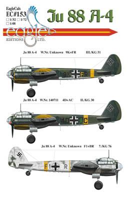 Ju 88 A4 Decals