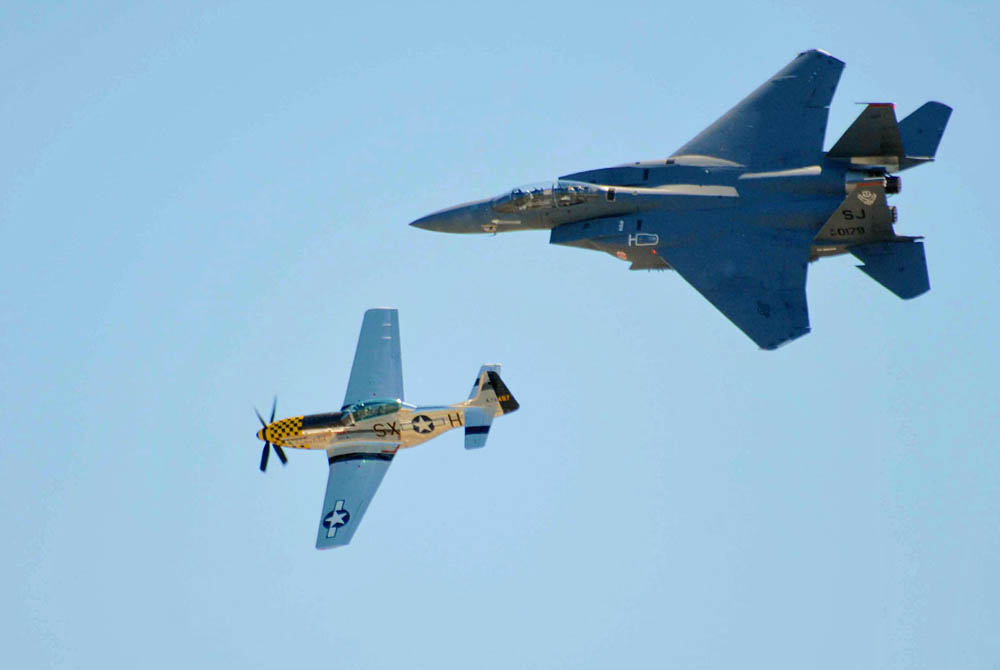 P-51 Mustang and F-15 Eagle Fighter Aircraft