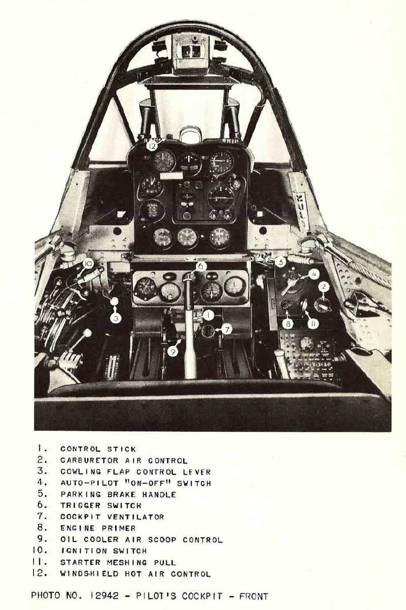 Douglas SBD Dauntless Front Cockpit and Instrument Panel