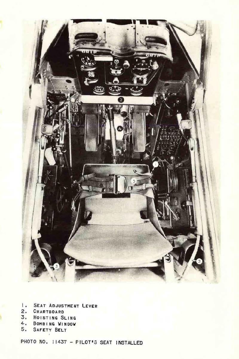 SBD Dauntless Pilot Seat and Cockpit