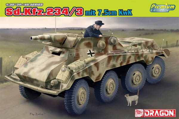 SdKfz 234/3 Amored Car with 75mm KwK