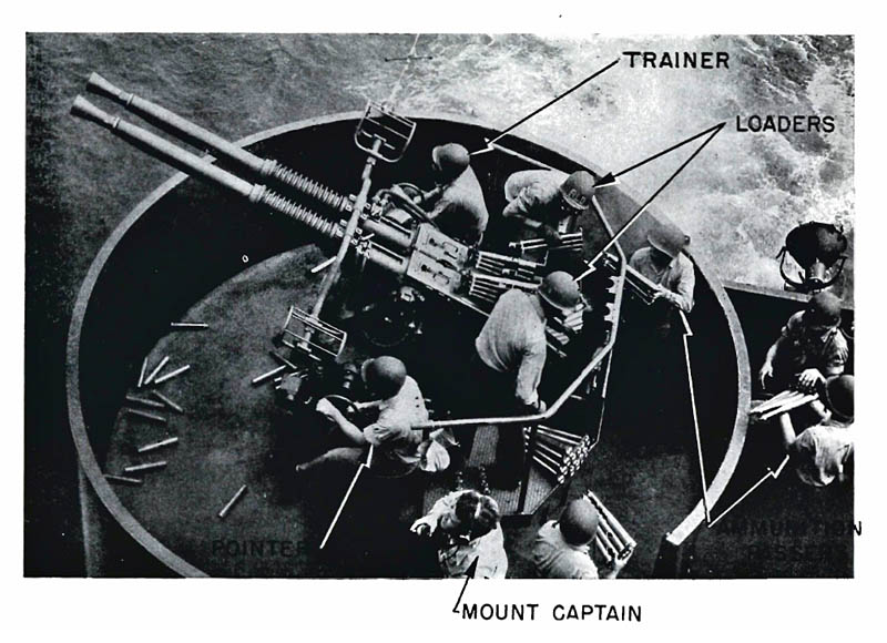 40mm twin mount and operating crew.