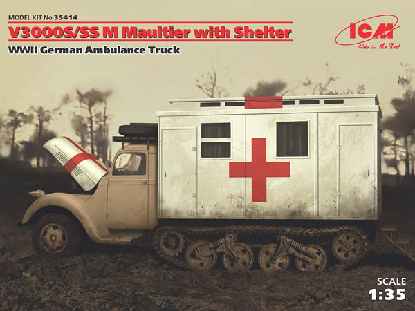 V3000S/SS M Maultier with Shelter (WWII German Ambulance Truck)